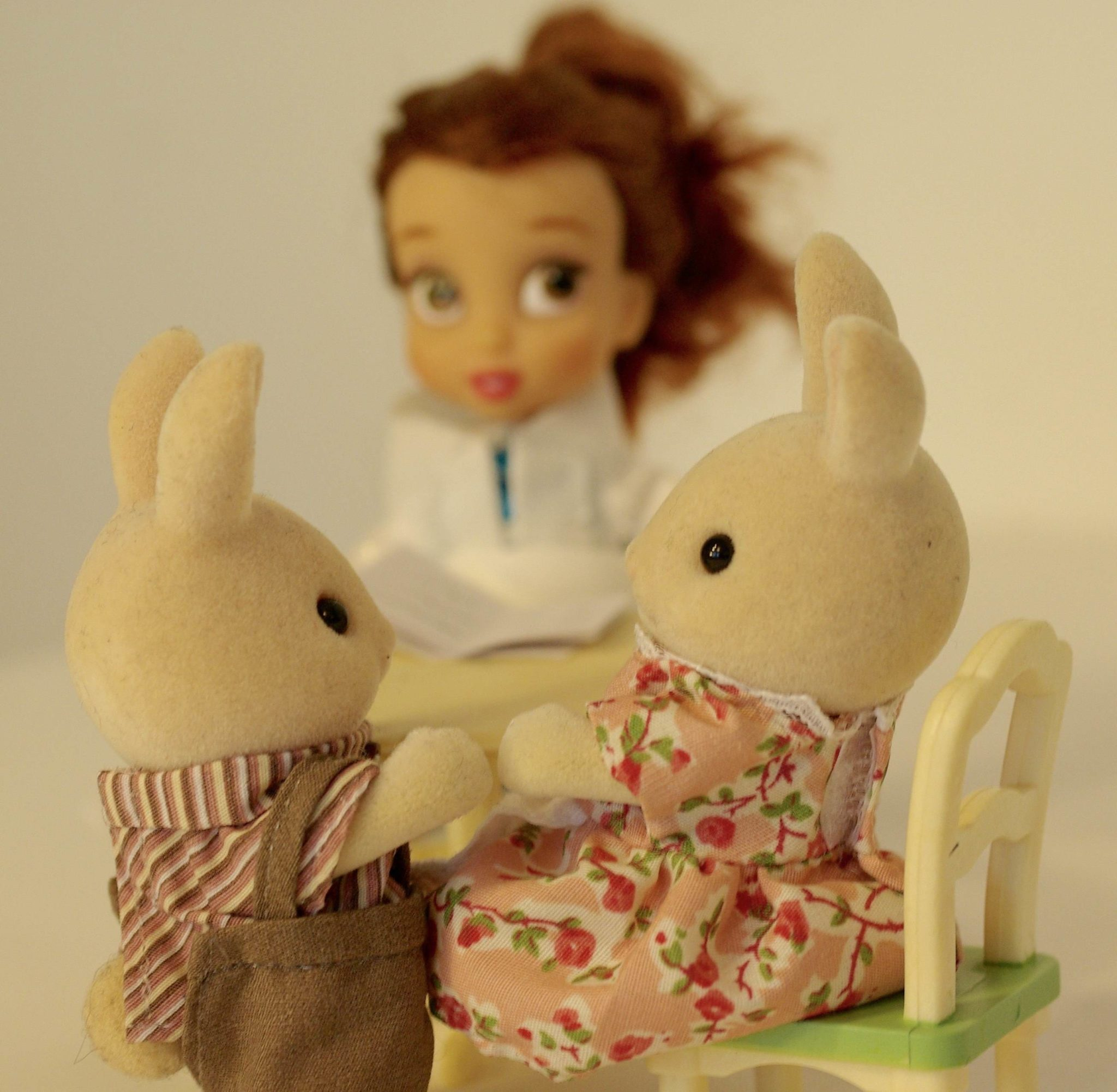 Accompagnement des familles mis en scène avec des jouets pour enfants